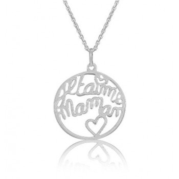"Pendentif rond ""je t'aime Maman"""