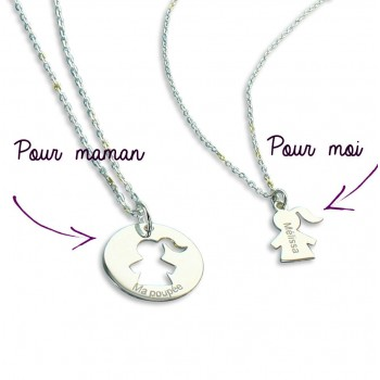 Duo de colliers Maman/Enfant