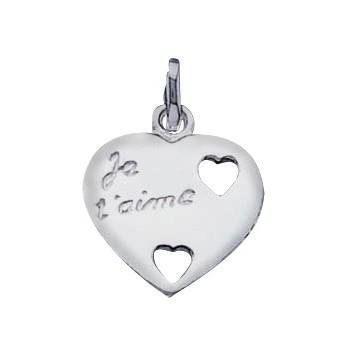 """Le pendentif """"je t'aime"""" en argent"""