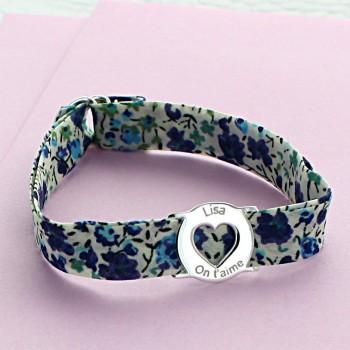 Bracelet Liberty médaille coeur