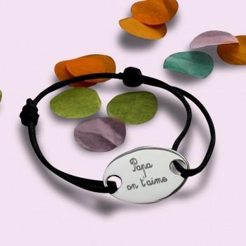 Bracelet plaque homme