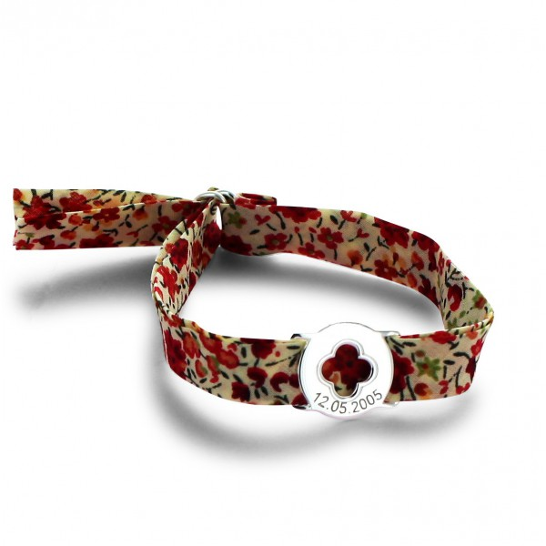 Bracelet Liberty coquelicot