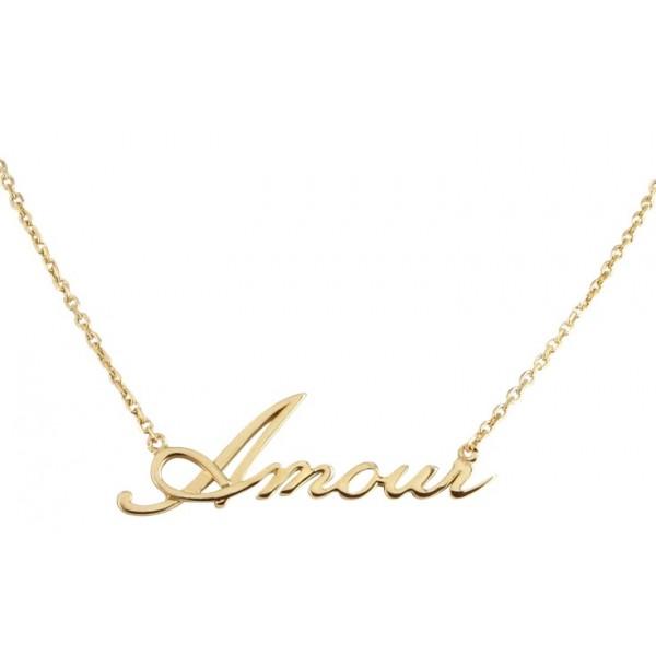 """Le Collier """"Amour"""" en Argent ou Plaqué Or"""