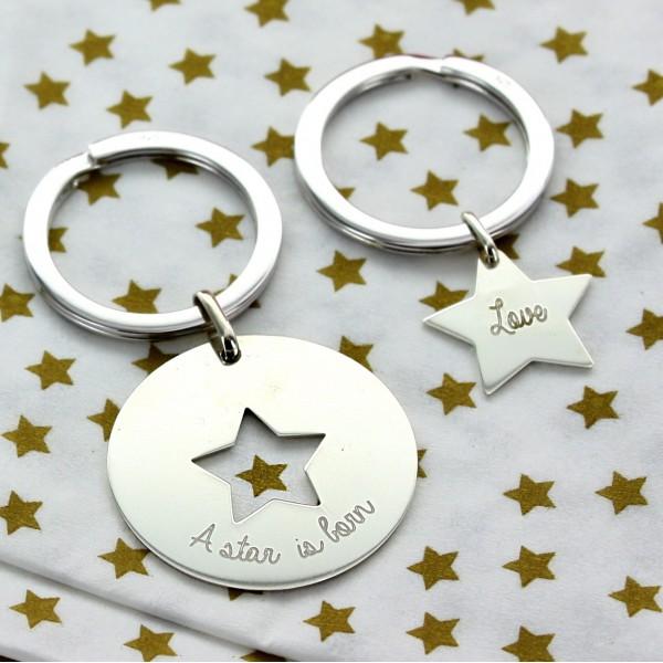 """Duo de porte clés """"Mes étoiles"""""""