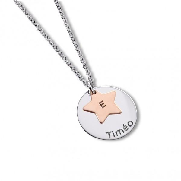 Le collier médaille et étoile