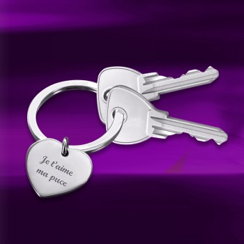 Duo de porte clés coeur à graver
