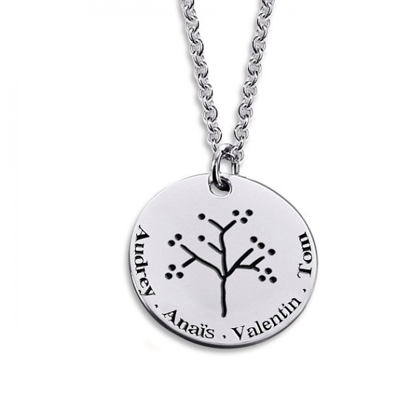 Le Collier arbre de vie gravé