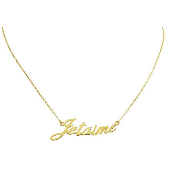 "Le Collier ""Je t'aime"" en Or"