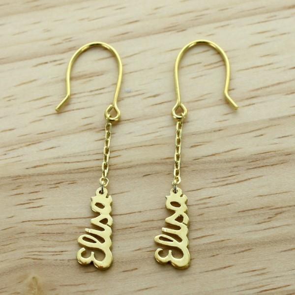 Les boucles d'oreilles prénom plaqué or