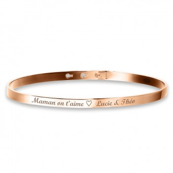 Petit Bracelet Jonc en argent rosé