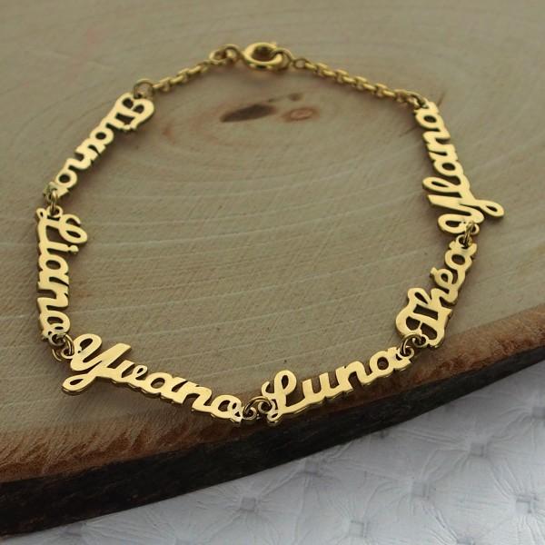 taille 40 b9379 125d5 Bracelet prénom découpé sur chaine