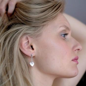 Boucles d'oreilles coeurs gravées