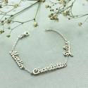 Bracelet prénom découpé sur chaine