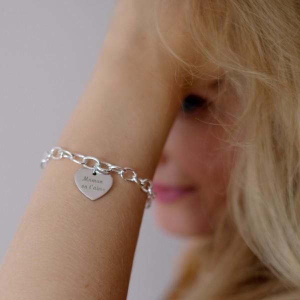 """Bracelet gravé """"Mes Amours A Moi"""""""