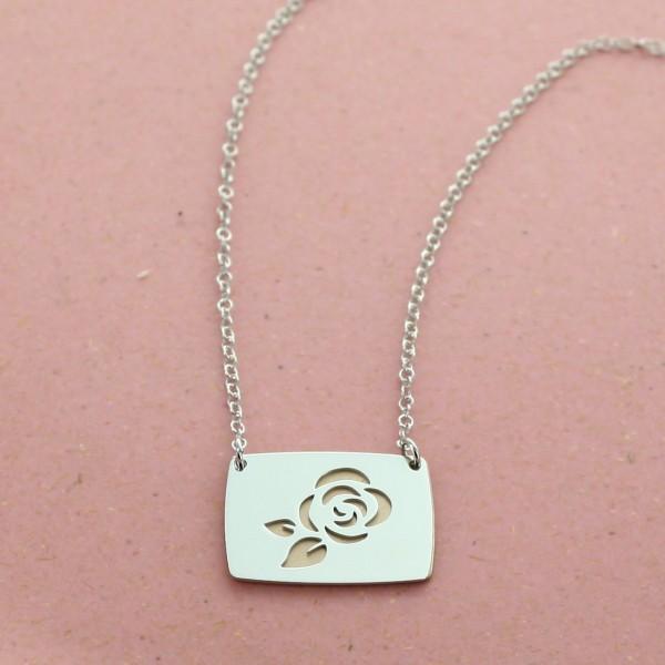"""Le collier personnalisé """"Ma jolie Rose"""""""