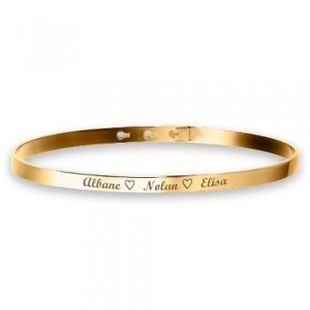 Petit Bracelet Jonc en plaqué or