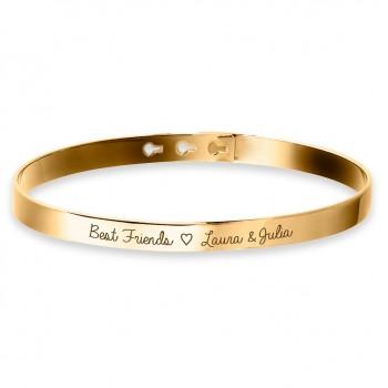 Bracelet Jonc Plaqué Or à personnaliser gravure Joaillier
