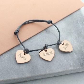 """Bracelet """"Mes Petits Coeurs"""" en argent rosé"""