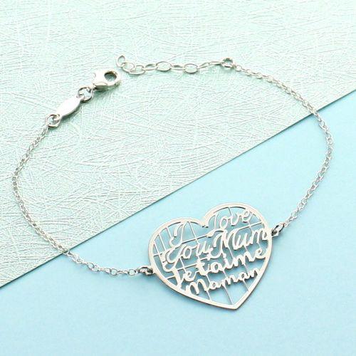 """Bracelet coeur """"Je t'aime maman"""""""