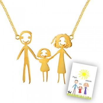 "Le collier ""Dessine moi ma famille"""