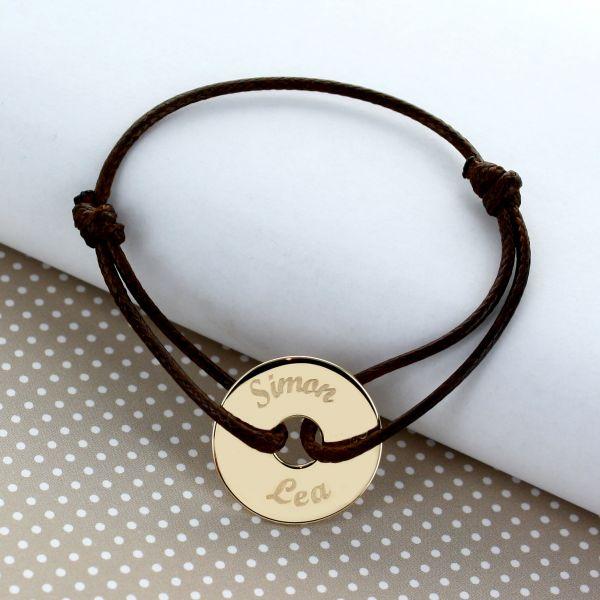 bracelet cordon jeton personnalis. Black Bedroom Furniture Sets. Home Design Ideas