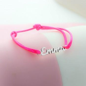 Bracelet prénom découpé sur cordon