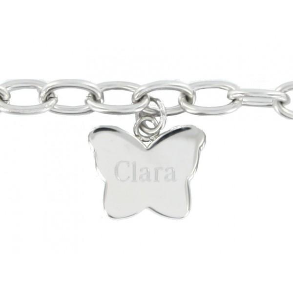 Bracelet Papillon en Acier