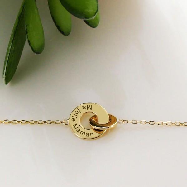 """Bracelet double anneaux """"enlace-moi"""""""