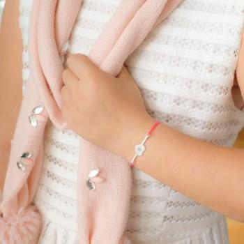 Bracelet barrette à graver sur cordon