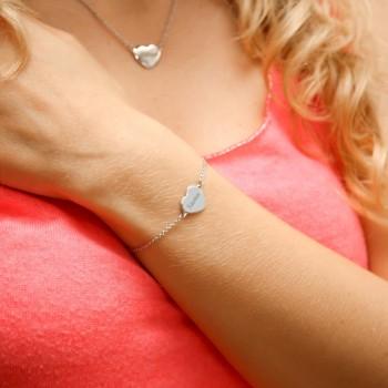 Bracelet coeur bombé gravé