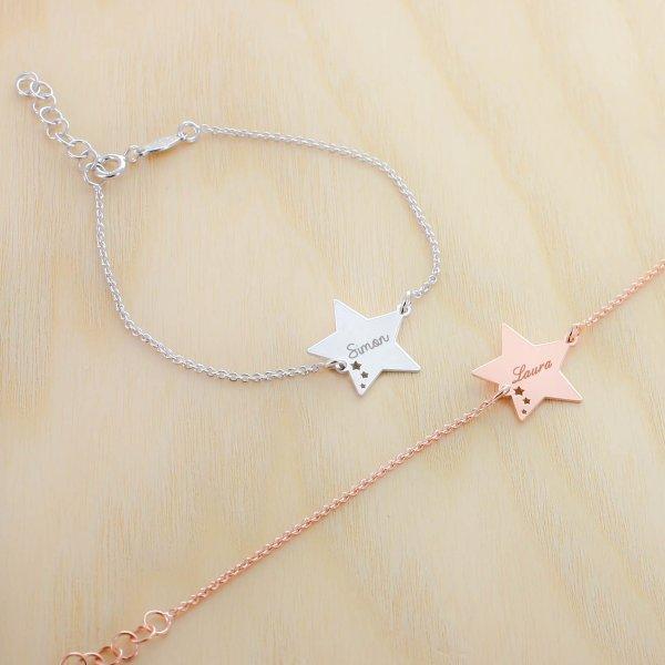 Bracelet étoiles perforées à personnaliser