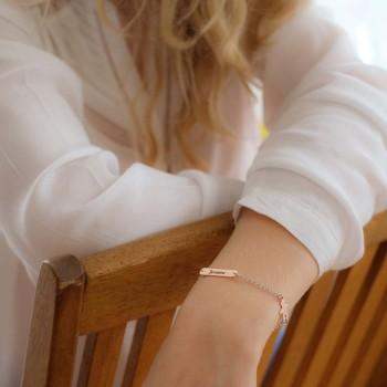 Bracelet personnage et plaque à graver
