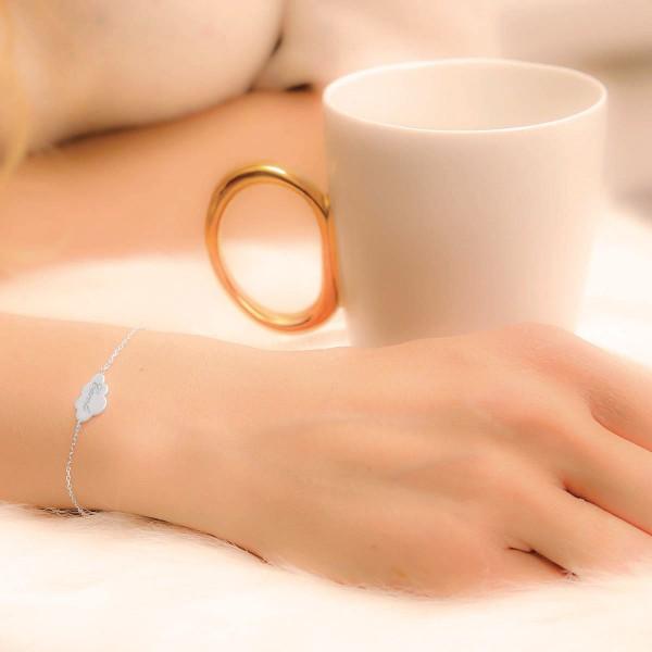 Bracelet nuage sur chaîne à personnaliser