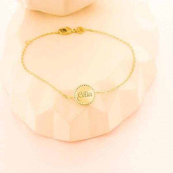 Bracelet Médaille Perlé