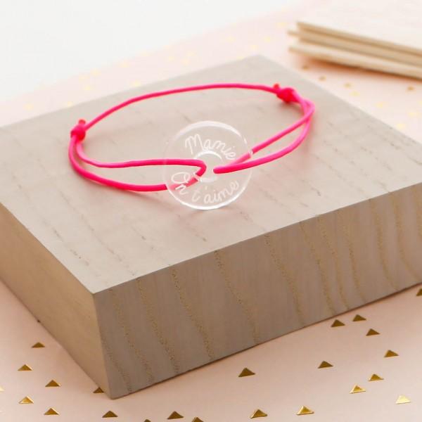 Bracelet gravé acrylique petite cible ronde