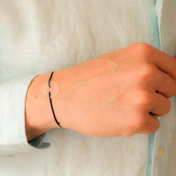 Bracelet gravé acrylique grande cible ronde