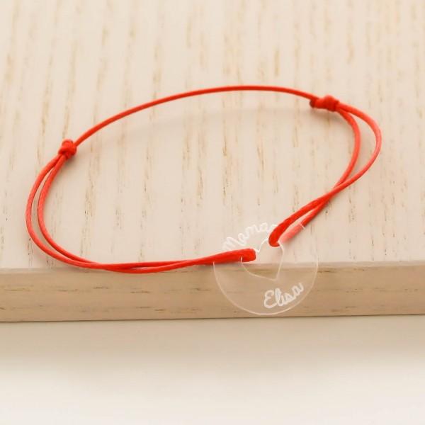 Bracelet gravé acrylique grande cible coeur