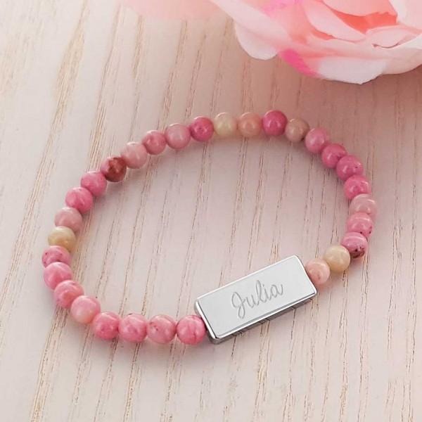 Bracelets acier et perles naturelles à personnaliser