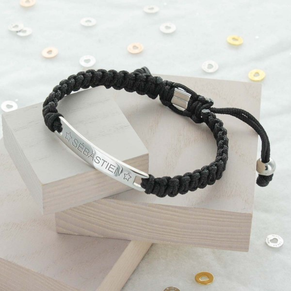Bracelet homme Shamballa rectangle
