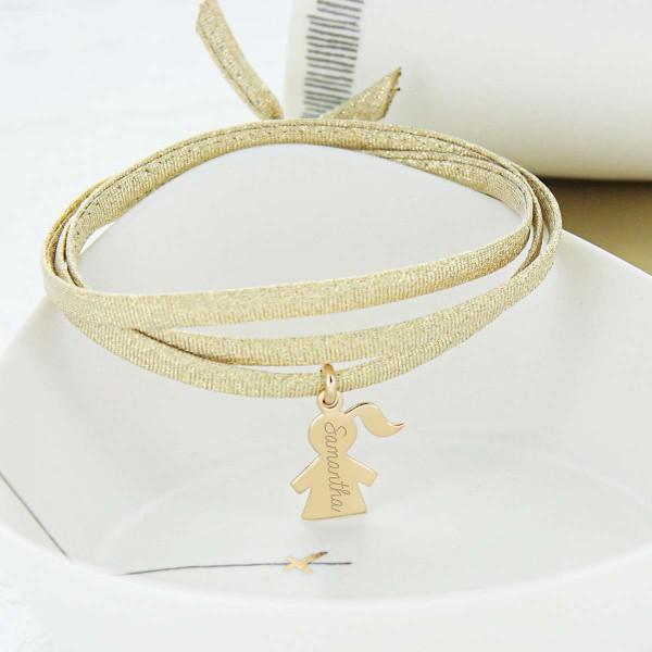 Bracelet Paillettes Triple Tour à personnaliser