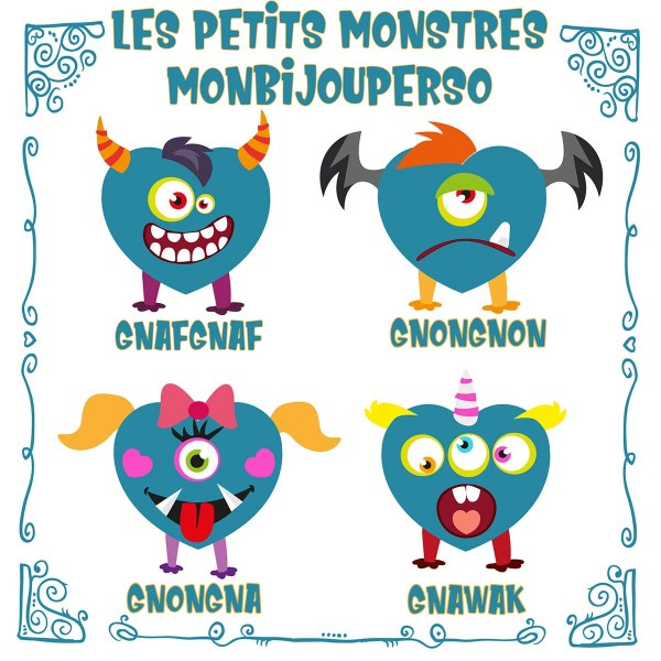 Les Petits Monstres de MonBijouPerso