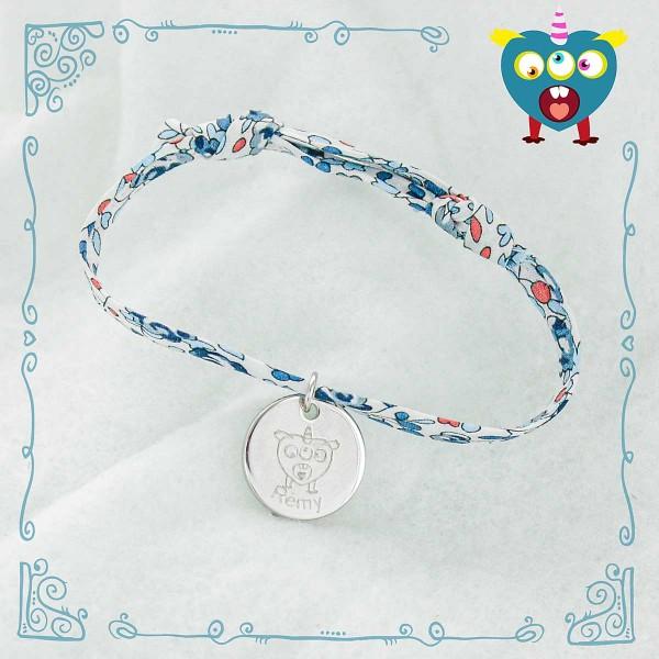 Bracelet Liberty Les Petits Monstres de MonBijouPerso à personnaliser