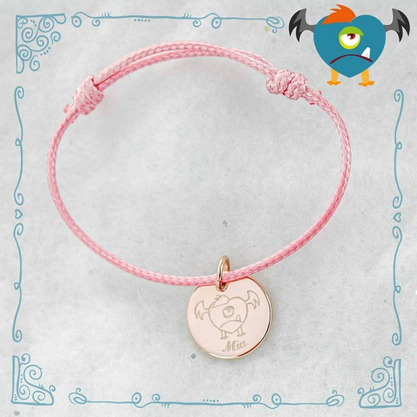 Bracelet cordon Les Petits Monstres de MonBijouPerso à personnaliser