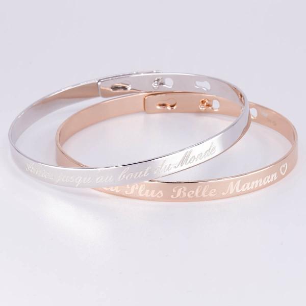 Duo Bracelets Jonc à personnaliser