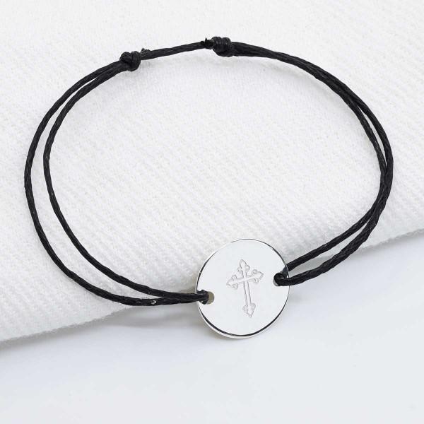 Bracelet Petit Médaillon Croix à Personnaliser