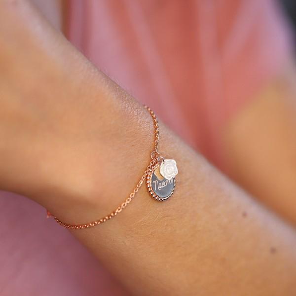 Bracelet personnalisé Fleur de Nacre