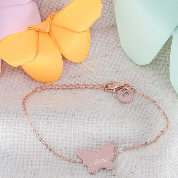 Bracelet papillon à personnaliser