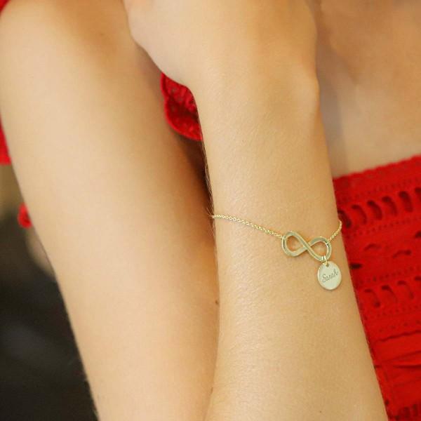 Bracelet Infini et pampilles à personnaliser
