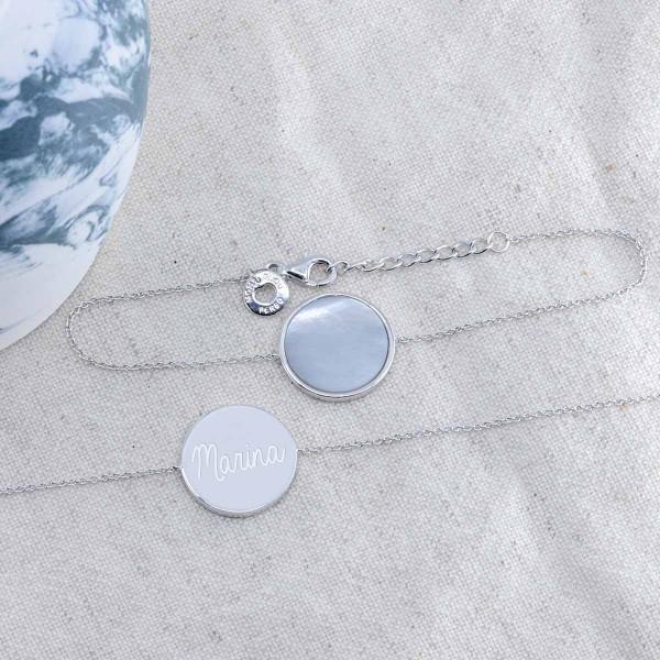Bracelet Nacre et Argent à personnaliser