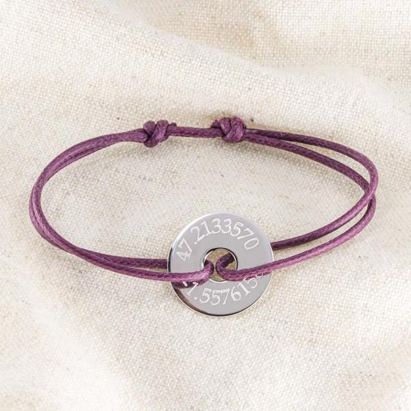 Bracelet cordon jeton personnalisé